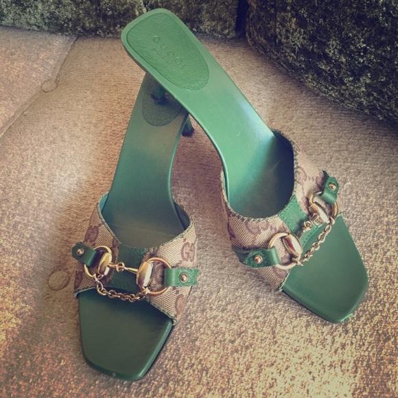 16692326e Gucci Shoes   Vintage Low Heel Sandal   Poshmark