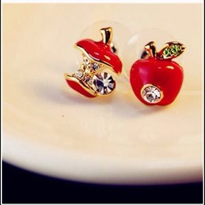 Jewelry - Red apple earrings