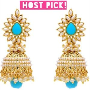 HOST PICK 11/4! Turquoise, gold & pearl earrings