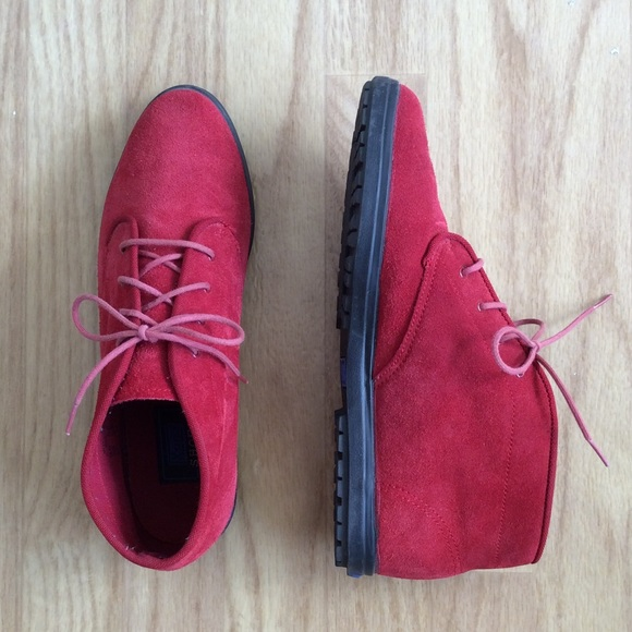 a2ea8d755 keds Shoes | Red Suede Ankle Boots Size 8 | Poshmark