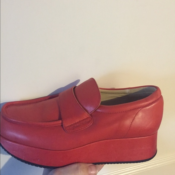 13c53b76b0d Stephane Kelian red leather platform loafers. M 56bf93618f0fc43550008ab3.  Other Shoes ...