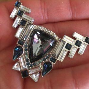 Swarovski Jewelry - Swarovski Shogun Silver Necklace and Earrings Set bfd97ee86191