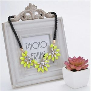 Statement Crystal Flower Necklace