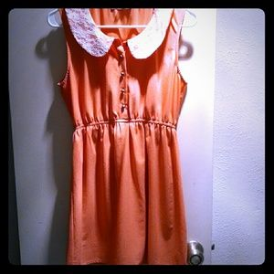 Modcloth melon colored peter pan collared dress