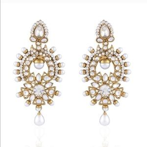 Gorgeous Bollywood gold & pearl studded earrings