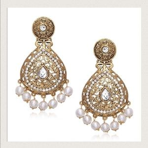 Gorgeous and classy Bollywood drop earrings