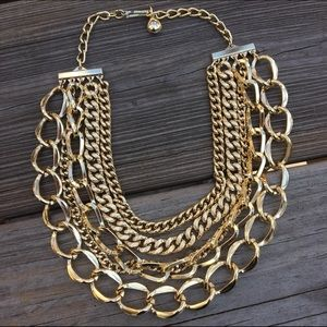 Vintage gold chains necklace