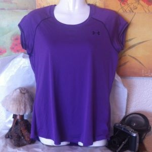 UNDER ARMOUR Purple Semi-Fitted Tee