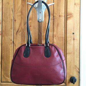 Furla Handbags - FURLA brick red bowler bag, made in Italy