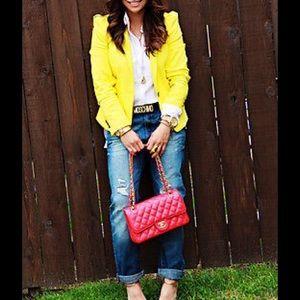 Zara Jackets & Coats - New yellow Zara blazer XS