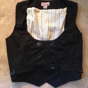 H&M cotton double breasted crop vest.