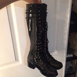 Shoes - Black Lace up Boots