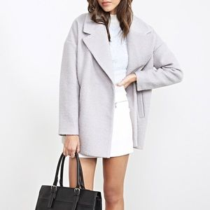 Forever 21 Jackets & Blazers - Gray Boucle Oversized Topcoat