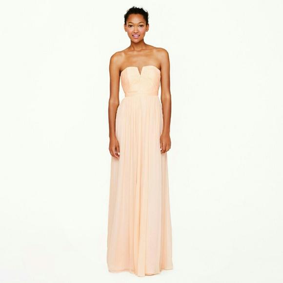 J. Crew Dresses | Jcrew J Crew Nadia Silk Chiffon Peach Blush Dress ...