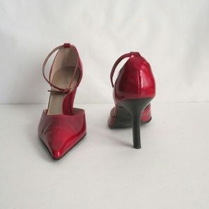 Fioni Shoes - Marvel Red Shoes Ankle Strap Heels size 8.5 Fioni