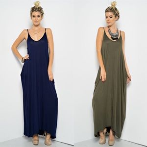 """Moon Palace"" Loose Harem Maxi Dress"