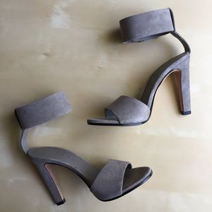 Vince Gita suede ankle strap heels