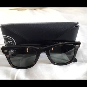 SOLD RAY BAN WAYFARER SUNGLASSES.