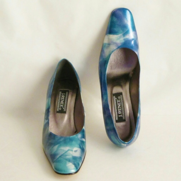 J Renee Shoes - Blue Marbleized Shoe Heels size 8 by J Renee