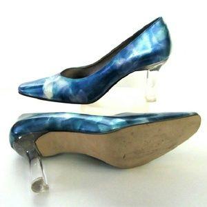 J Renee Shoes - Blue Marbleized Shoe Heels size 8 by J Renee