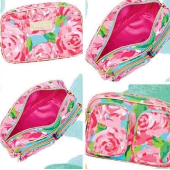 52daf1a296d7 NIP Lilly hotty pink first impression makeup bag