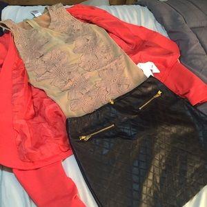 Other - BUNDLE Nude Bodysuit + blazer