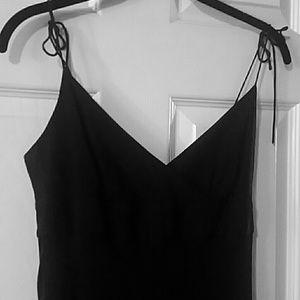 J.crew 100%silk black summer tie top dress
