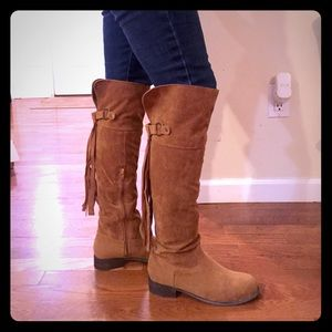American Exchange Shoes - Fringe Riding boot.👢