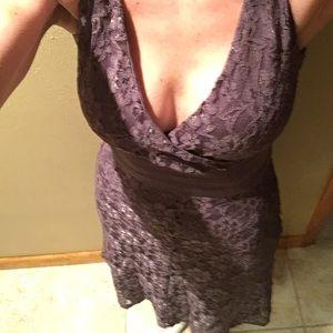 Lavender lace dress. Fits 2-6 says XS