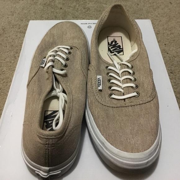 69% off Vans Shoes - VANS TAN/BURLAP. WOMENS SIZE 8. MENS SIZE 6.5 ...