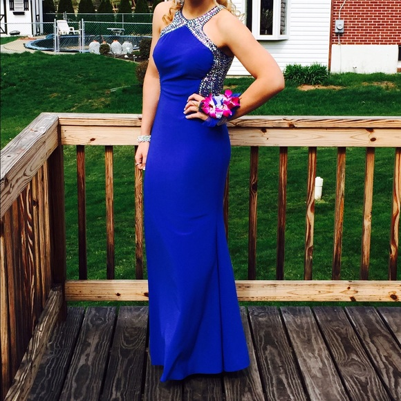 Davids Bridal Dresses Must Go Royal Blue Prom Dress Poshmark