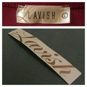 Lavish Tops - Burgundy Sequined Blouse