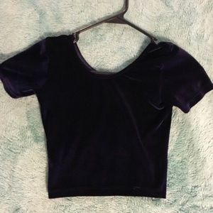 American Apparel Tops - American Apparel Dark Purple Crop Top