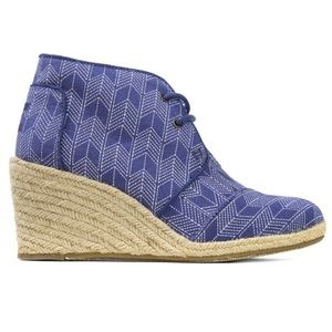 NEW TOMS Wedge Espadrille