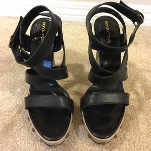 Sergio Rossi Shoes - Like new SERGIO ROSSI strappy sandals, Italy
