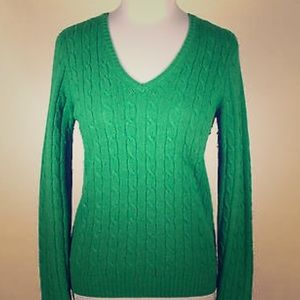 J.Crew Cable V-Neck Sweater Size S