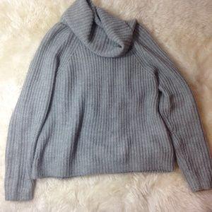 GAP Turtleneck Grey Wool Sweater