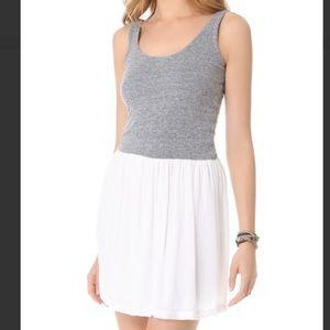 Monrow Dresses & Skirts - Monrow White & Gray Knit Woven Dress S