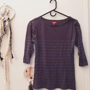 Madewell 3/4-sleeve Sailor Shirt w/Button Detail