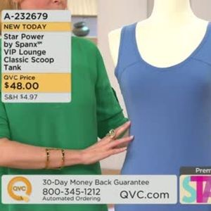 Star Power by Spanx VIP Lounge Classic Scoop Tank
