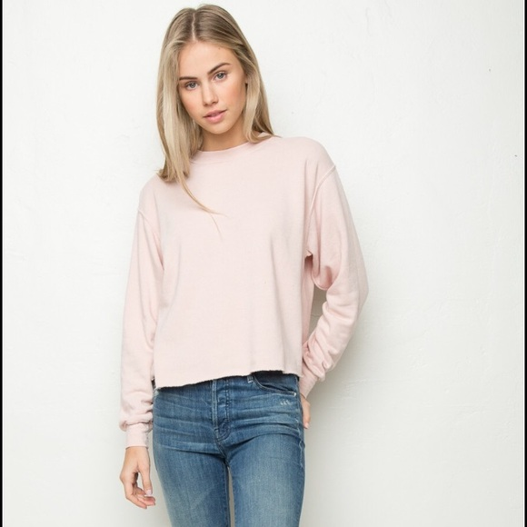 f97fa14eaad rare Brandy Melville pink cropped sweater