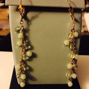 Green and yellow Jade earrings 