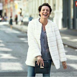 Zara Jackets & Blazers - *WKEND SALE* ZARA WOMAN Faux Fur Tiered Long Coat