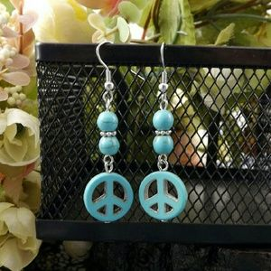 Jewelry - Classical Turquoise Natural Tibet Silver Peace
