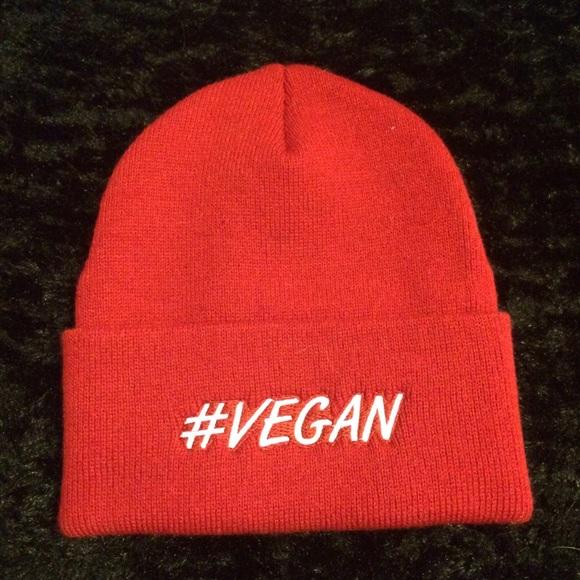 Accessories - Red Vegan Beanie d58a5746b67