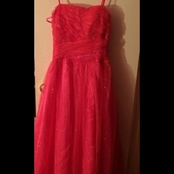 Macy\'s Dresses | Pink Glitter Prom Dress | Poshmark