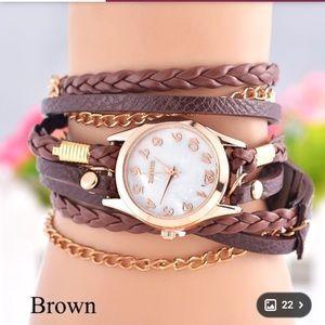 Wristlet watch bracelet