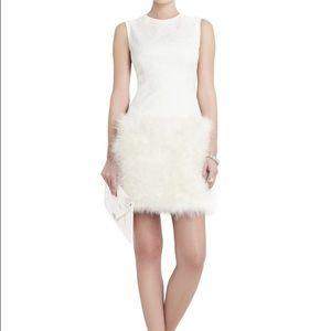 BCBG Feather-HEM Dress
