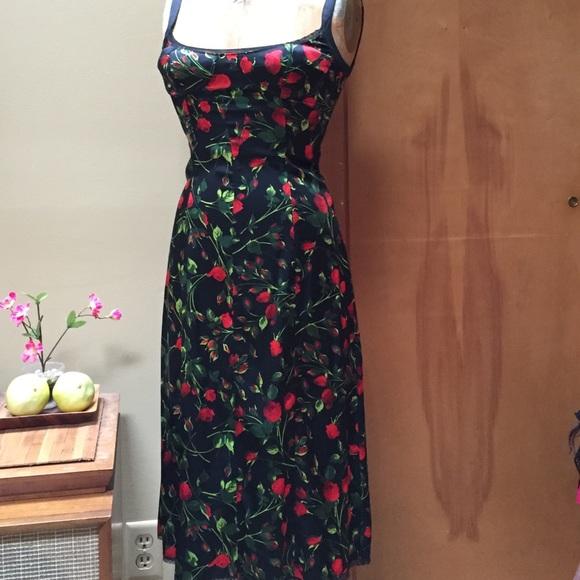 e2e8c51b7f99e Dolce & Gabbana Dresses | Dolce Gabbana Rose Print Slip Dress | Poshmark