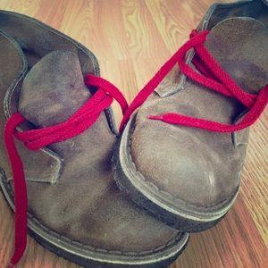 Beautifully Broken-In Clarks Desert Boots
